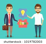 the concept of financing new... | Shutterstock .eps vector #1019782003