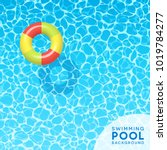 clear blue swimming pool water...   Shutterstock .eps vector #1019784277