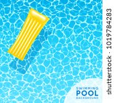 clear blue swimming pool water... | Shutterstock .eps vector #1019784283