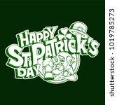 hand drawn typographic design... | Shutterstock .eps vector #1019785273