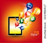 conceptual social networking... | Shutterstock .eps vector #101980417