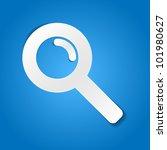magnifying glass   paper cut... | Shutterstock .eps vector #101980627