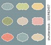 set of vintage frames | Shutterstock .eps vector #101982457