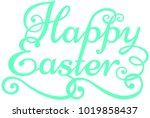 vivid colorful happy easter... | Shutterstock . vector #1019858437