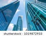 urban building skyscrapers in... | Shutterstock . vector #1019872933
