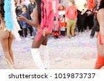 blurred unrecognizable people... | Shutterstock . vector #1019873737