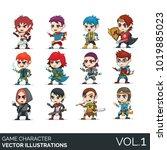 game character design. vector... | Shutterstock .eps vector #1019885023