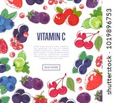 natural vitamins poster with... | Shutterstock .eps vector #1019896753
