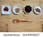 Small photo of Korean sauce Soybean paste, red pepper paste, Soy sauce