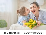 happy mother's day  child... | Shutterstock . vector #1019909083