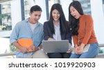 energetic optimistic teen... | Shutterstock . vector #1019920903