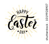happy easter day. hand drawn... | Shutterstock .eps vector #1019928907