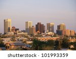 Phoenix, AZ at sunset - stock photo