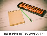 mental arithmetic background | Shutterstock . vector #1019950747