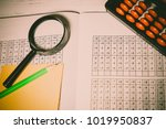 mental arithmetic background | Shutterstock . vector #1019950837