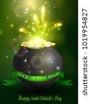 st. patrick s day symbol green... | Shutterstock .eps vector #1019954827