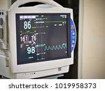 vital sign monitor medical... | Shutterstock . vector #1019958373