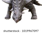 Small photo of Sauropelta isolated on the white background