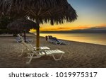 cuba playa ancon beach tropical ... | Shutterstock . vector #1019975317