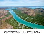 Small photo of Aerial view of Porosis Creek and Naturalist Island, Prince Frederick Harbour, Kimberley coast, Australia