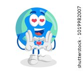 earth mascot and background in... | Shutterstock .eps vector #1019982007