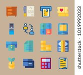 icons banking with document ... | Shutterstock .eps vector #1019992033
