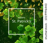 card on st. patrick's day. 3d... | Shutterstock .eps vector #1019996443