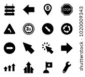 solid vector icon set   sign... | Shutterstock .eps vector #1020009343