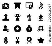 solid vector icon set   star... | Shutterstock .eps vector #1020016087