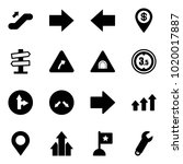 solid vector icon set  ... | Shutterstock .eps vector #1020017887