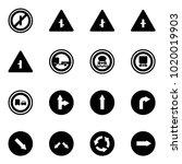 solid vector icon set   no... | Shutterstock .eps vector #1020019903