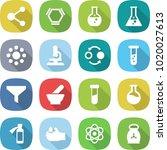 flat vector icon set   molecule ... | Shutterstock .eps vector #1020027613