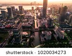 the big city sunset   Shutterstock . vector #1020034273