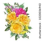 floral background.bouquet ... | Shutterstock . vector #1020036943