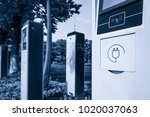 electric vehicle charging...   Shutterstock . vector #1020037063