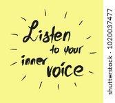 listen to your inner voice  ...   Shutterstock .eps vector #1020037477