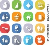 flat vector icon set   cleanser ... | Shutterstock .eps vector #1020039967