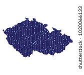 map of czech republic country ... | Shutterstock .eps vector #1020066133