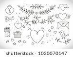 love decorative vintage... | Shutterstock .eps vector #1020070147