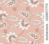 elegance seamless pattern with... | Shutterstock .eps vector #1020077773