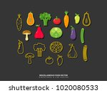 miscellaneous fruit and... | Shutterstock .eps vector #1020080533