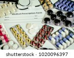 the concept of pharmacology... | Shutterstock . vector #1020096397