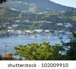 Cruise port, Lipari - stock photo