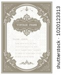 vintage frame with beautiful... | Shutterstock .eps vector #1020123313