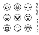 icons emoticons. vector... | Shutterstock .eps vector #1020126967