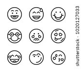 icons emoticons. vector happy ... | Shutterstock .eps vector #1020127033