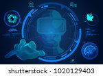 concept of virtual reality... | Shutterstock .eps vector #1020129403