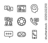 icons customer service. vector... | Shutterstock .eps vector #1020132253