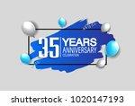 35 years anniversary... | Shutterstock .eps vector #1020147193