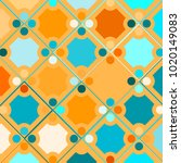 colorful mosaic background with ... | Shutterstock .eps vector #1020149083